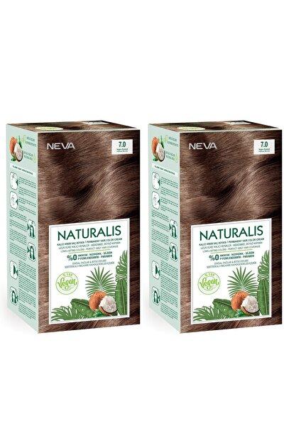Naturalis Saç Boyası 7.0 Yoğun Kumral %100 Vegan 2'li Set
