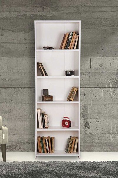 5 Raflı Kitaplık - Beyaz