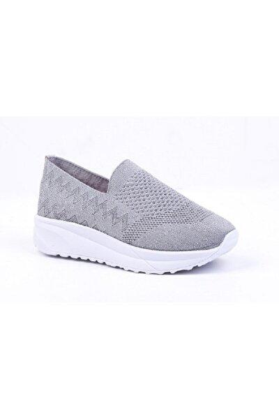 Kadın Gri Konfor ve Yürüyüş Ayakkabısı