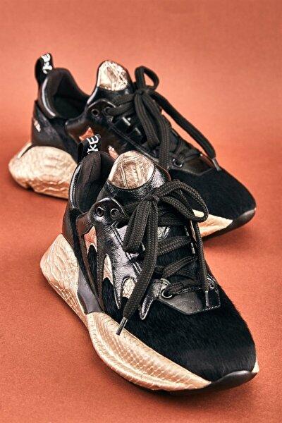 Siyah/siyah Cilt Kadın Sneaker K0541000105