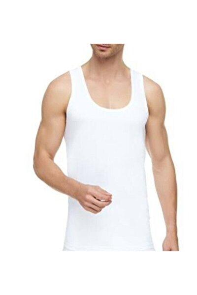 Erkek Beyaz 6 Adet Pamuklu Penye Askılı Atlet