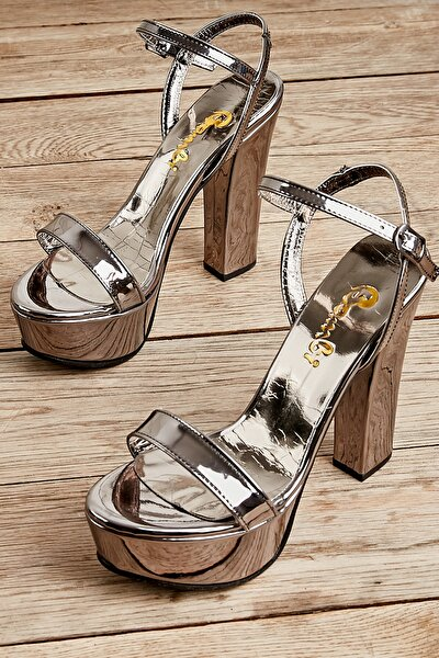 Kurşun Kadın Abiye Ayakkabı L0527052039