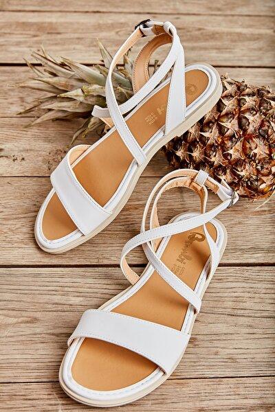 Beyaz Kadın Sandalet L0652071109