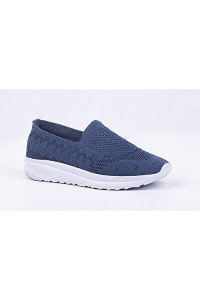 Kadın Lacivert Ortopedik Yürüyüş Ayakkabısı Tekstil