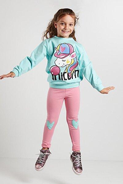Bubble Unicorn Kız Sweat-shirt+tayt