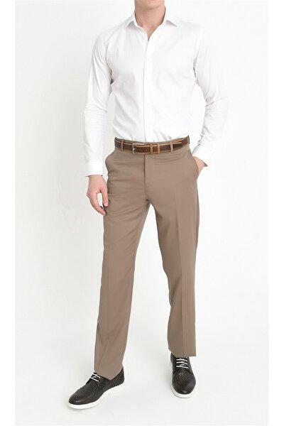 P 842 Slim Fit Bej Klasik Pantolon