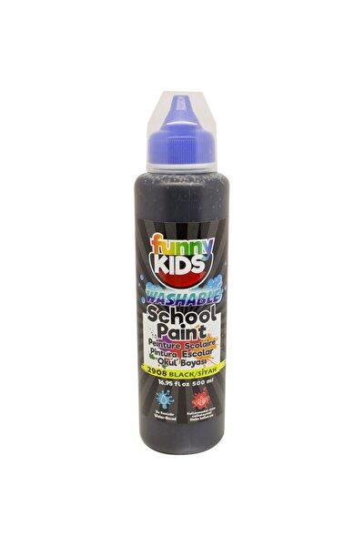 Funny Kids Yıkanabilir Okul Boyası 500ml - 2908 Siyah