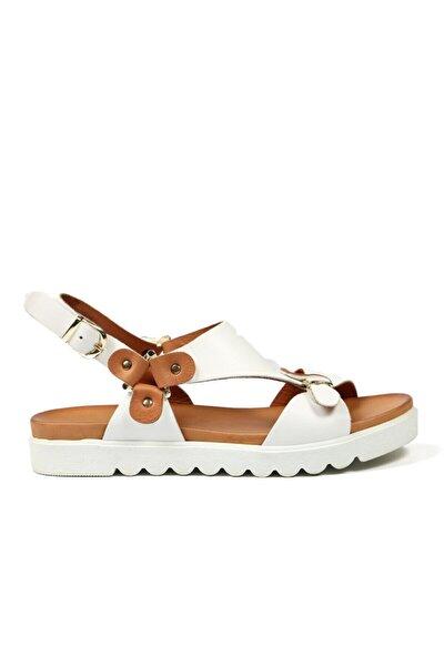 Beyaz Kadın Terlik / Sandalet 160 402-z