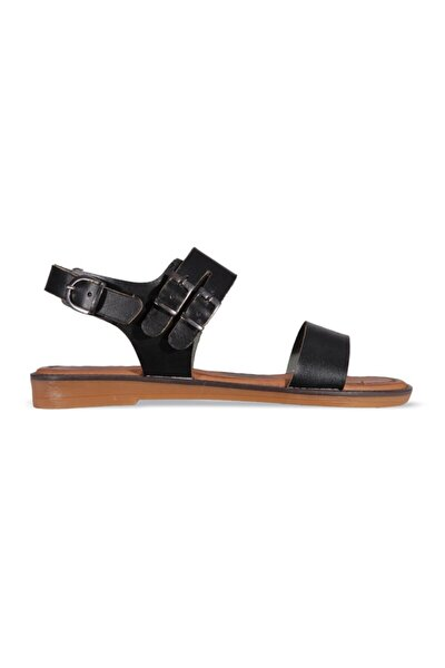 Kadın Siyah Sandalet Ayakkabı