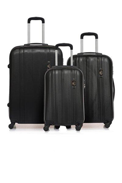 Fsy1225y-set Siyah Unisex 3 Lü Set Bavul