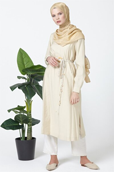 Tunik Elbise 19ya4923 Bej