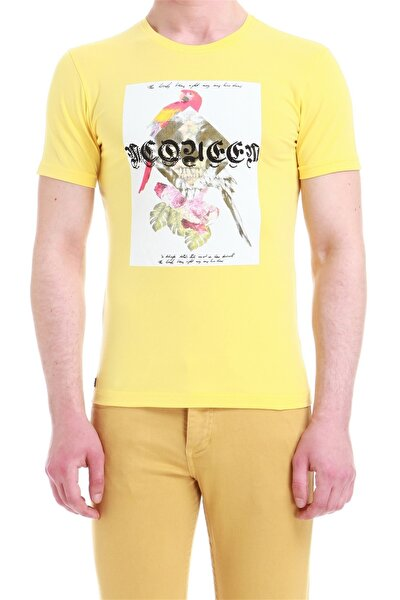 Ts 749 Slim Fit Sarı Spor T-shirt