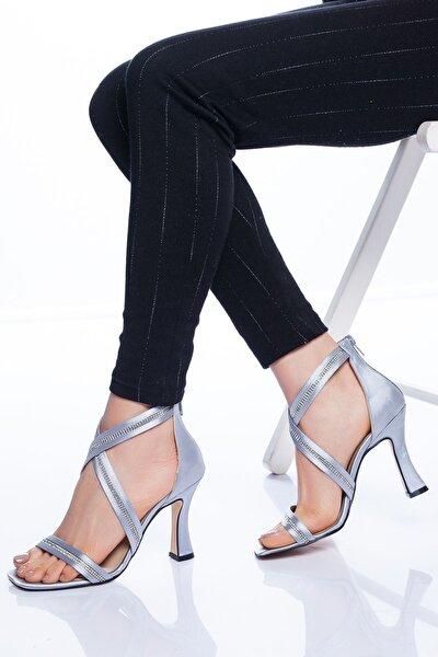 Alberta Topuklu Ayakkabı Gri
