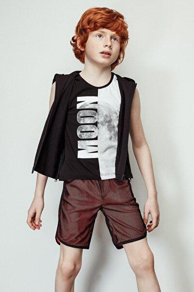 Erkek Çocuk Neon Oranj Şort 19ss1nb3144