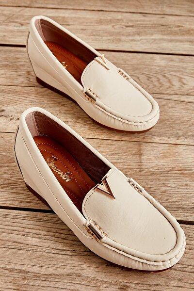 Bej Kadın Loafer Ayakkabı L07180119