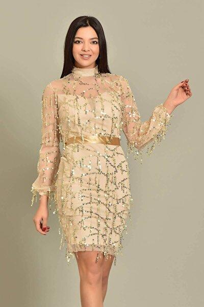 Vizon Pul Payet Abiye Elbise