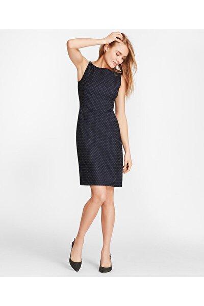 Kadın Lacivert Kolsuz Elbise