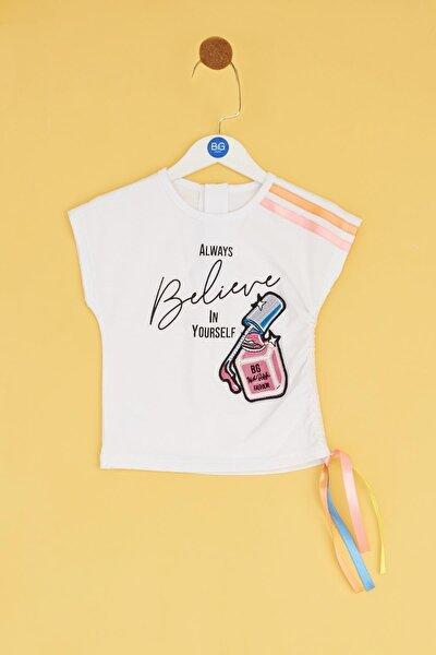 Kız Bebek Beyaz T-shirt
