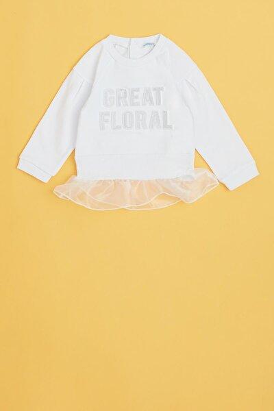 Kız Bebek Beyaz S-shirt