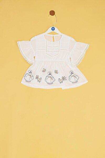 Kız Bebek Beyaz Bluz