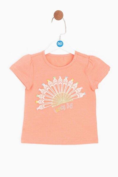 Kız Bebek Somon T-shirt