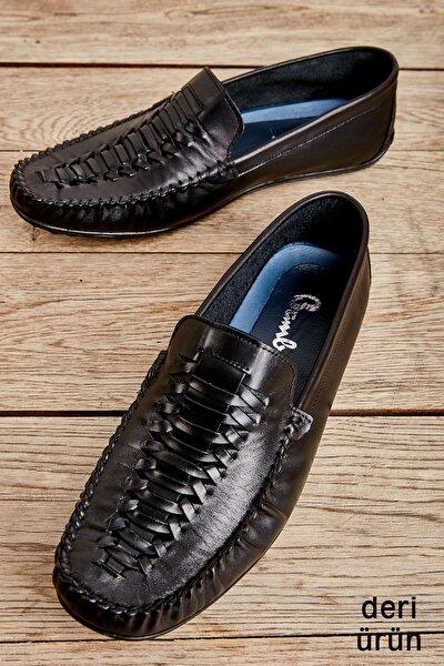 Hakiki Deri Siyah Erkek Loafer L1611021003