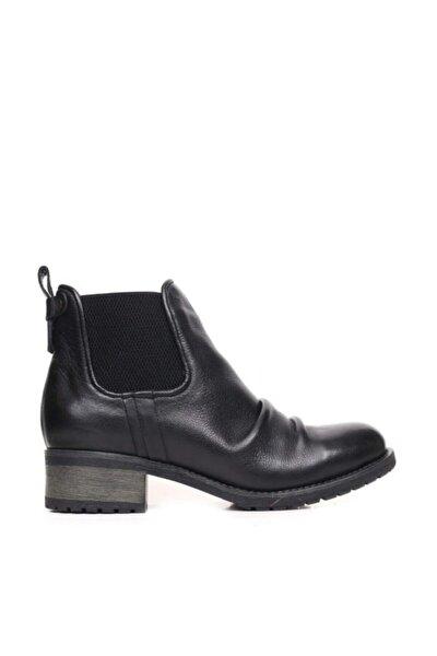 Shoes Büzgülü Ve Lastikli Hakiki Deri Kadın Düz Bot 9p0300