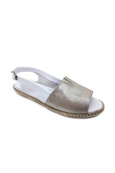 Vizon Deri Kadın Sandalet