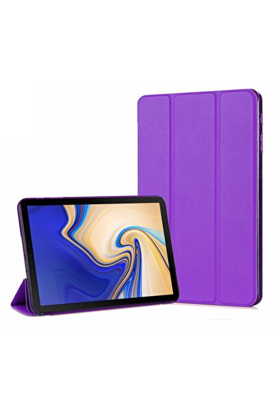 Galaxy Tab A 10.5'' T590 Smart Case Ve Arka Kılıf, Microsonic Mor