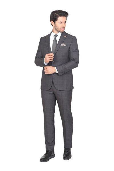 Takım Elbise Regular Fit Desenli 6 Drop