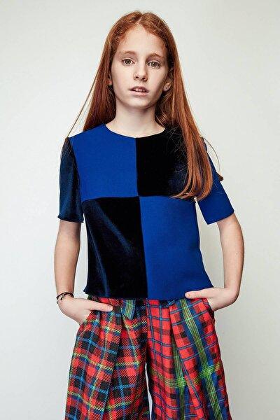 Kız Çocuk Mavi Bluz
