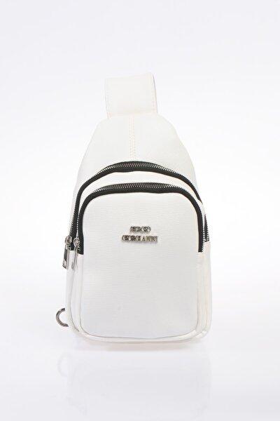 Luxury Sg25032019 Beyaz Kadın Sırt Çantası