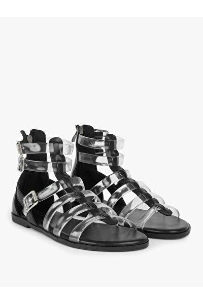 Şeffaf Bantlı Sandalet