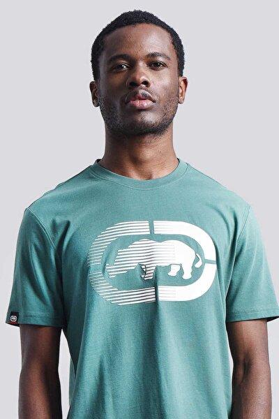 Logo Tee 2 Yeşil Erkek Baskılı Bisiklet Yaka T-shirt