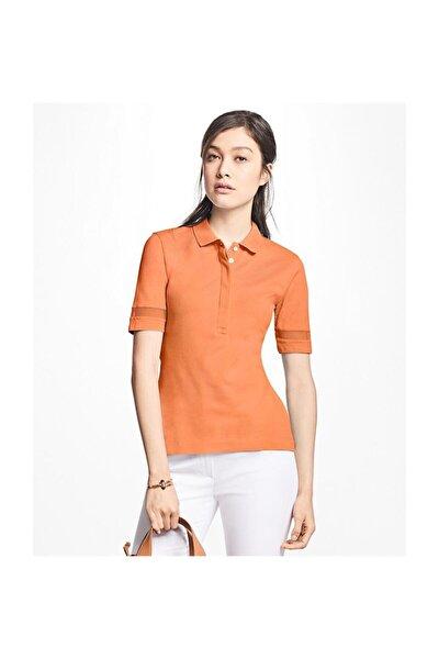 Kadın Turuncu Polo Yaka T-shirt