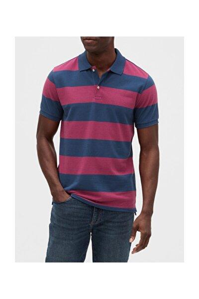 Polo Yaka Çizgili T-shirt