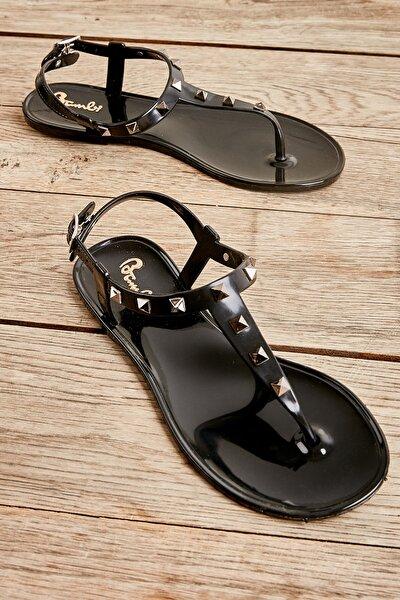 Siyah Kadın Sandalet L0500001499