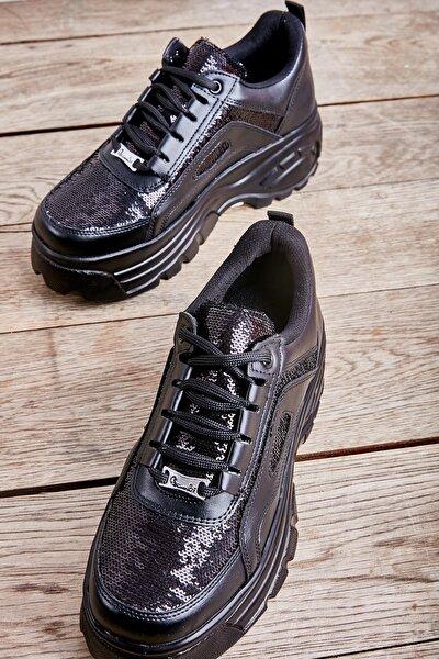 Siyah Kadın Sneaker L0671302709