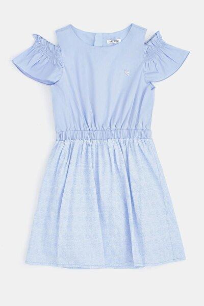 Kız Çocuk Mavi Elbise
