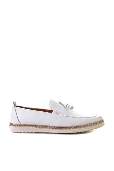 Hakiki Deri Beyaz Erkek Casual Ayakkabı L1501606703