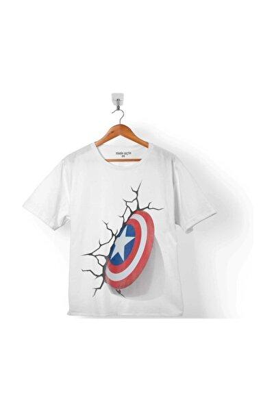 Kaptan Amerika Captaın Amerıca 3d 3 Boyutlu 2 Çocuk Tişört