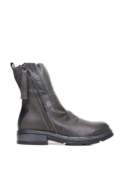 Shoes Iki Fermuarlı Hakiki Deri Kadın Düz Bot 9p2609