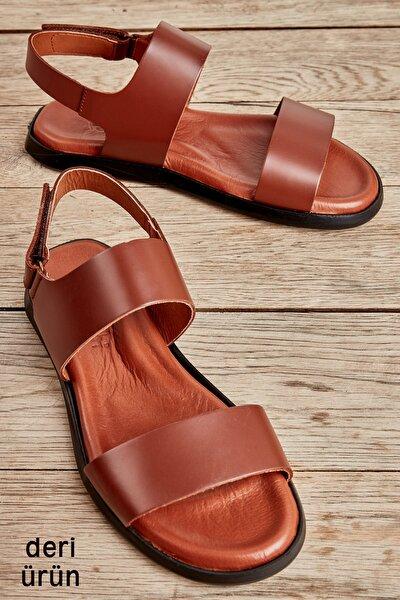Hakiki Deri Taba Erkek Sandalet L1801020403