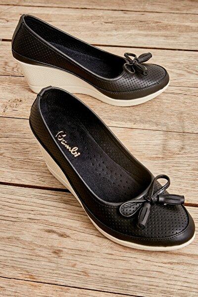 Siyah Kadın Dolgu Topuklu Ayakkabı L05860845
