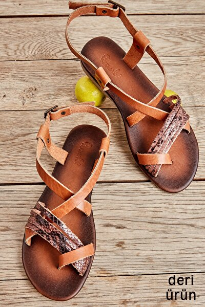 Taba/kahve Yılan Kadın Sandalet L0685162303