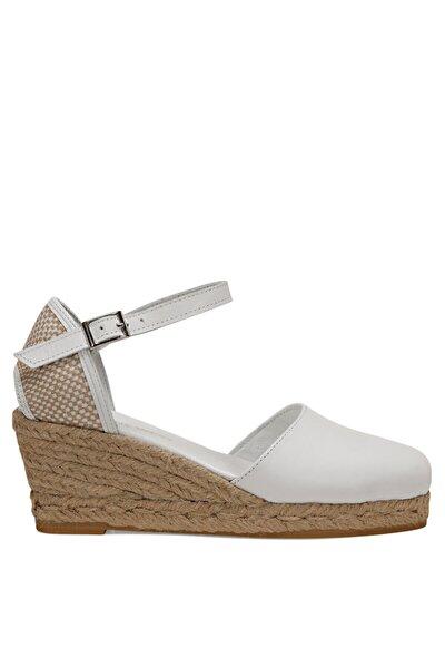 FRIDA Beyaz Kadın Dolgu Topuk Sandalet 100526036