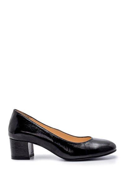Kadın Deri Kalın Topuklu Ayakkabı