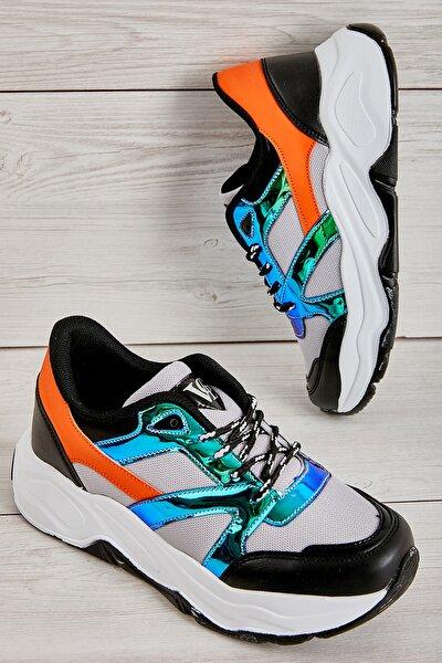 Gri/laci/siyah Kadın Sneaker L0613656022
