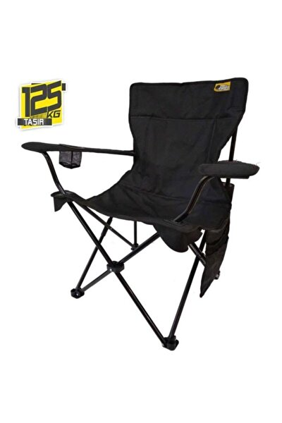 V2 Siyah Lüks Kamp Sandalyesi