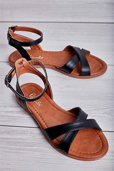 Siyah Kadın Sandalet L06714042
